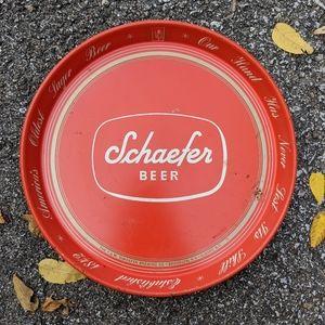 """VTG SCHAEFER Metal 12"""" Beer Tray"""